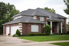 Suburban Brick House Stock Image