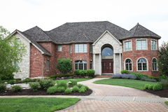 Suburban Brick House Stock Photography