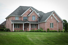 Suburban Brick House Royalty Free Stock Photography