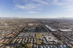 Suburban Communities Aerial Las Vegas Nevada. Aerial view of suburban neighborhood communities in Las Vegas, Nevada Royalty Free Stock Images