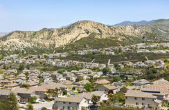 Suburban Community. Housing community in southern Californian expands into the hillside Royalty Free Stock Photo