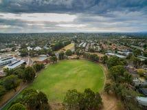 Suburban cricket ground of Melbourne stock photography