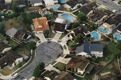 Suburban cul-de-sac. Aerial of suburban cul-de-sac royalty free stock photo