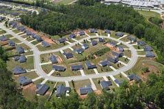 Suburban Culdesac Aerial Royalty Free Stock Image