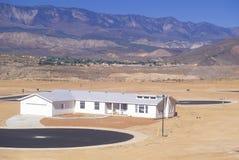 Suburban development in desert Royalty Free Stock Images