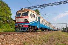 Suburban electric train Royalty Free Stock Photography