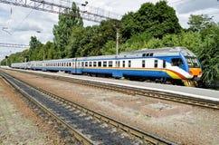 Suburban electric train Stock Photography