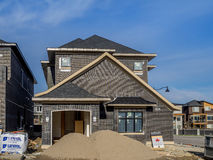Suburban estate home under construction Stock Photo