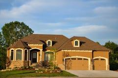 Suburban Executive Home Stock Photography