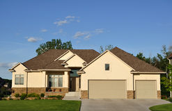 Suburban Executive Home Royalty Free Stock Images