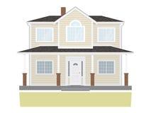 Suburban Family Home Vector Illustration Royalty Free Stock Photo