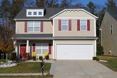 Suburban Home. A suburban two story home royalty free stock photos
