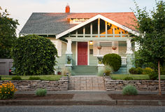 Suburban Home. The front yard of a nice single family home Royalty Free Stock Photos