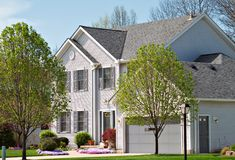 Suburban Home stock image