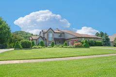 Suburban Home. A beautiful brick home in the suburbs in Michigan, USA Royalty Free Stock Images