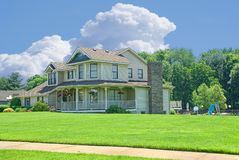 Suburban Home Stock Photography