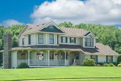 Suburban Home. A beautiful vinyl siding home in the suburbs in Michigan, USA Stock Photography