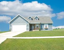 Suburban Home. A beautiful vinyl siding home in the suburbs in Michigan, USA stock images