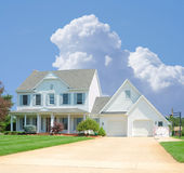 Suburban Home. A beautiful vinyl siding home in the suburbs in Michigan, USA royalty free stock images