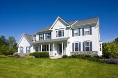 Suburban home. Luxury, suburban single family residence royalty free stock image