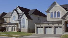 Suburban Home. Custom home exterior. Luxury Suburban Home. Custom house exterior stock footage