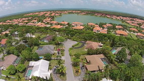 Suburban home sin Florida arial view stock video