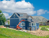 Suburban Home Under Construction Stock Photography