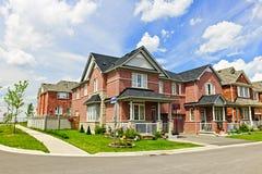 Suburban homes Stock Image
