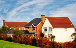 Suburban Homes. An image of houses set in a suburban area Royalty Free Stock Photography