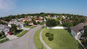 Suburban homes aerial view Stock Photo