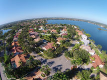 Suburban homes in Florid aerial view Royalty Free Stock Images