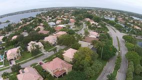 Suburban homes in Florida from above stock video