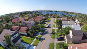 Suburban homes in Florida aerial view Stock Photos