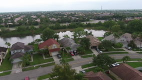 Suburban homes in Florida aerial view stock video