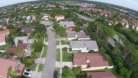 Suburban homes in Florida stock video