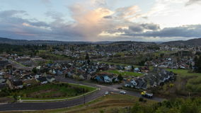 Suburban Homes in Happy Valley Oregon 1080p Royalty Free Stock Photos