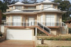 Suburban House. Sydney Australia in outer suburbs app 30 k's from the CBD Royalty Free Stock Photos