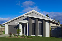 Suburban house. New modern Australian suburban townhouse Stock Photo