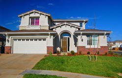 Suburban House. A house in the suburbs Royalty Free Stock Images