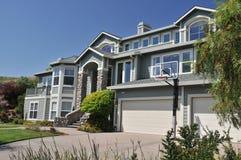 Suburban house and blue sky Stock Photo