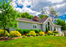 Suburban house exterior. In generic colonial style Stock Photography