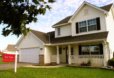 Free Suburban House For Sale Royalty Free Stock Photos - 3443028