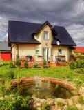 Suburban House with garden Royalty Free Stock Photos