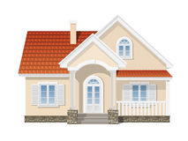 Suburban house isolated Stock Photography