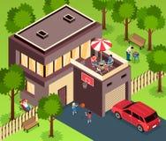 Suburban House Isometric Exterior