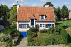 Suburban house in summer Royalty Free Stock Image