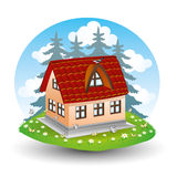 Suburban house. Royalty Free Stock Photography