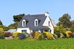 Suburban House in Western France Royalty Free Stock Images