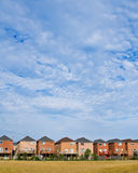Suburban houses. With large sky area Royalty Free Stock Photo