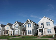 Suburban Houses. New development in suburbia Royalty Free Stock Photo